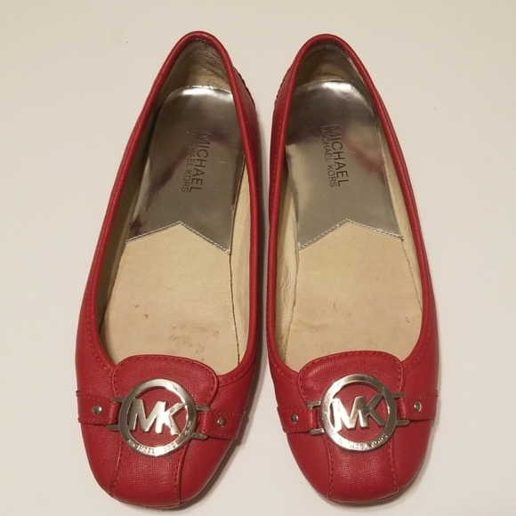 Michael Kors Shoes   Red Leather Flats